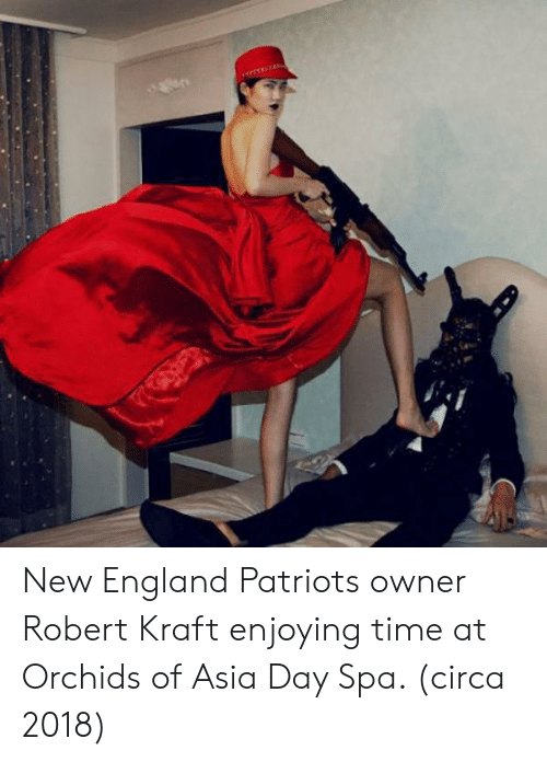 England, New England Patriots, and Patriotic: New England Patriots owner Robert Kraft enjoying time at Orchids of Asia Day Spa. (circa 2018)