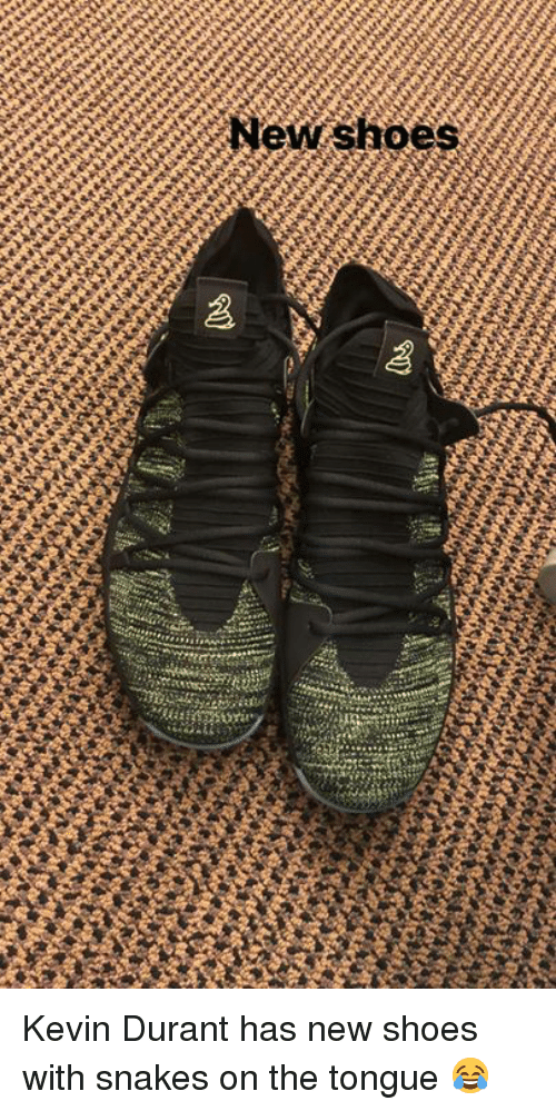 Kevin Durant, Shoes, and Snakes: New shoes Kevin Durant has new shoes with snakes on the tongue 😂