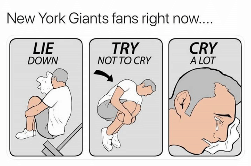 New York, New York Giants, and Nfl: New York Giants fans right now...  LIE  DOWN  TRY  NOT TO CRY  CRY  A LOT