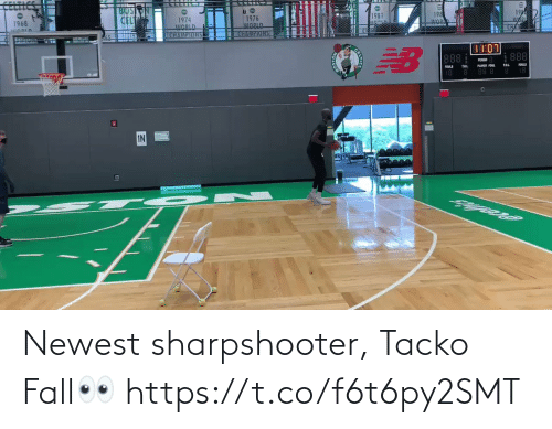 🤖: Newest sharpshooter, Tacko Fall👀 https://t.co/f6t6py2SMT