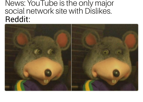 News, Reddit, and youtube.com: News: YouTube is the only major  social network site with Dislikes.  Reddit: