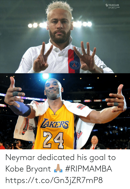 Kobe Bryant: Neymar dedicated his goal to Kobe Bryant 🙏🏽 #RIPMAMBA https://t.co/Gn3jZR7mP8