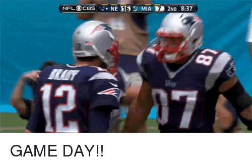 Memes, Brady, and 🤖: NFL@ces-NE185 MIAH 2ND 8.37  NFL⑥CBS i-NET35: MIATED 2ND 8:37  BRADY  12-727 GAME DAY!!
