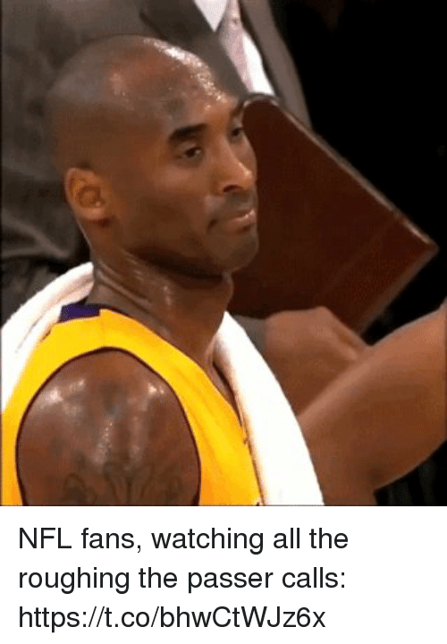 Nfl, Sports, and All The: NFL fans, watching all the roughing the passer calls: https://t.co/bhwCtWJz6x