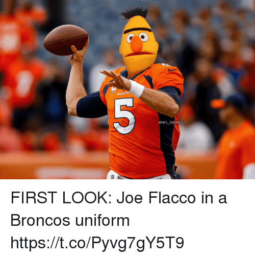 Football, Memes, and Nfl: @NFL_MEMES FIRST LOOK: Joe Flacco in a Broncos uniform https://t.co/Pyvg7gY5T9