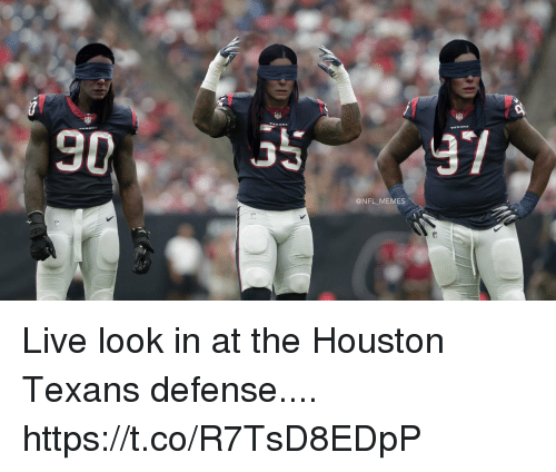 Houston Texans: @NFL MEMES Live look in at the Houston Texans defense.... https://t.co/R7TsD8EDpP