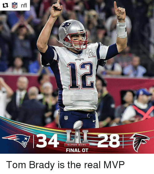 Memes, 🤖, and Super Bowls: nfl  PATENTS  SUPER BOWL  FINAL OT Tom Brady is the real MVP