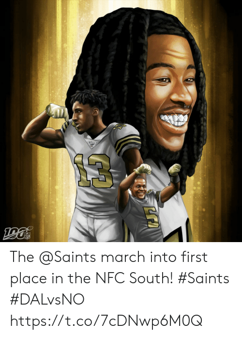 First Place: NFL The @Saints march into first place in the NFC South!  #Saints #DALvsNO https://t.co/7cDNwp6M0Q