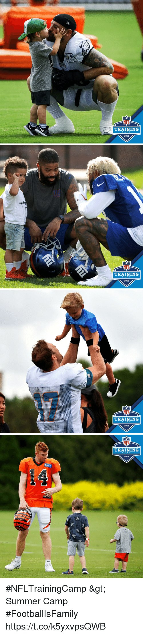 summer camp: NFL  TRAINING  CA M P  2018   nu  NFL  TRAINING  CA M P  2018   NFL  TRAINING  2016   NFL  TRAINING  CA M P  2018 #NFLTrainingCamp > Summer Camp  #FootballIsFamily https://t.co/k5yxvpsQWB