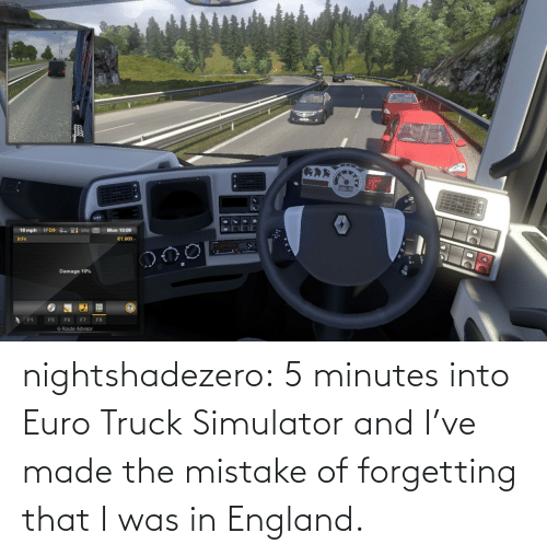 Simulator: nightshadezero: 5 minutes into Euro Truck Simulator and I've made the mistake of forgetting that I was in England.