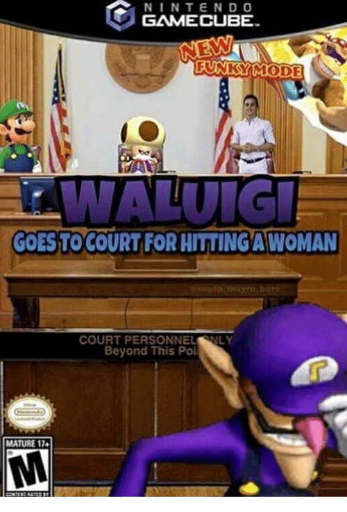 Gamecube, Poi, and Beyond: NINTEND O  GAMECUBE  FUNKSYIMODE  GOES:TO COURT FOR HITTİNGAWOMAN  COURT PERSONNELNLY  Beyond This Poi