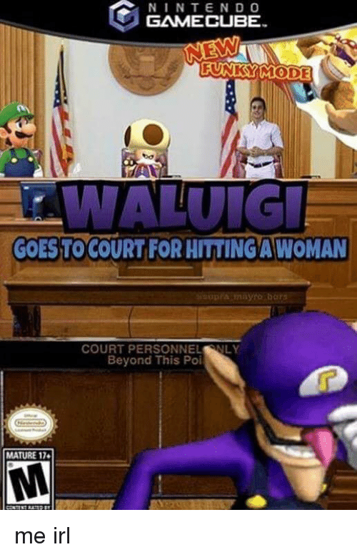 Irl, Me IRL, and Gamecube: NINTEND O  GAMECUBE  FUNKSYMODE  GOES TO COURT FOR HITTING A WOMAN  COURT PERSONNELNLY  Beyond This Poi  MATURE 17
