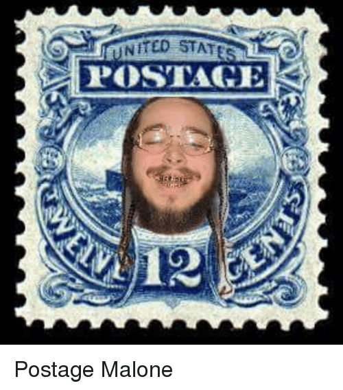 malone: NITED STATE  POSTAGE Postage Malone