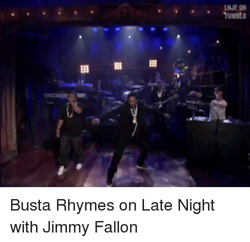 Busta Rhymes: NJF ON  TUMBLR <p>Busta Rhymes on Late Night with Jimmy Fallon</p>
