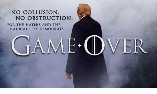 radical: NO COLLUSION  NO OBSTRUCTION  FOR THE HATERS AND THE  RADICAL LEFT DEMOCRATS-