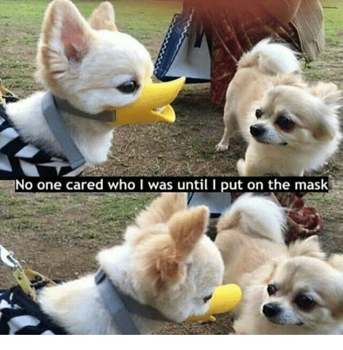 I Putted: No one cared who I was until I put on the mask
