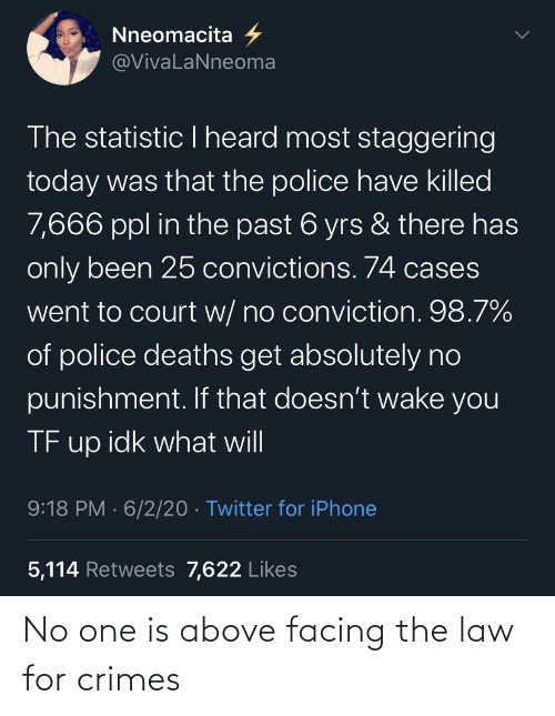law: No one is above facing the law for crimes