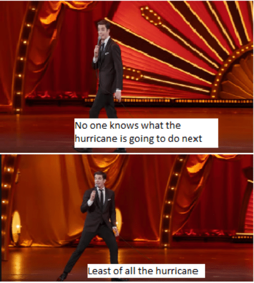 Hurricane, All The, and Next: No one knows what the  hurricane is going to do next  Least of all the hurricane