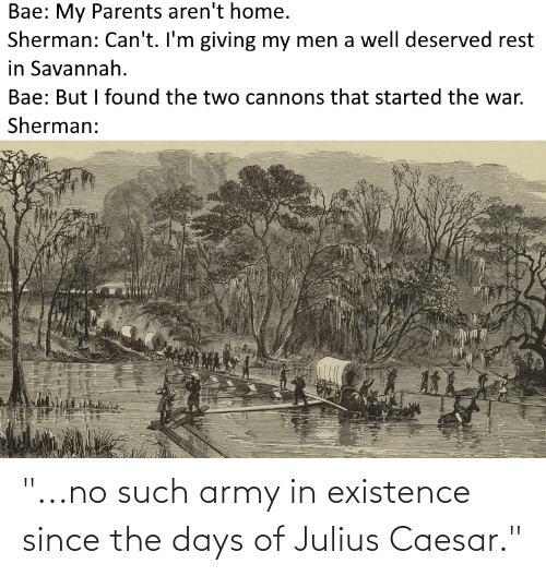 """Julius Caesar: """"...no such army in existence since the days of Julius Caesar."""""""