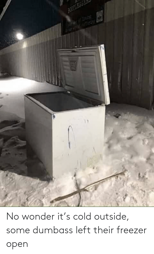open: No wonder it's cold outside, some dumbass left their freezer open