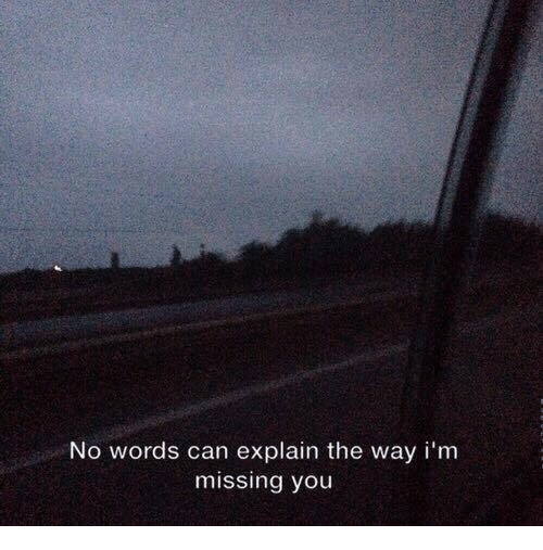 Can, Words, and You: No words can explain the way i'm  missing you