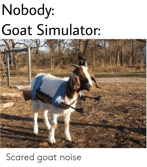 Simulator: Nobody  Goat Simulator Scared goat noise