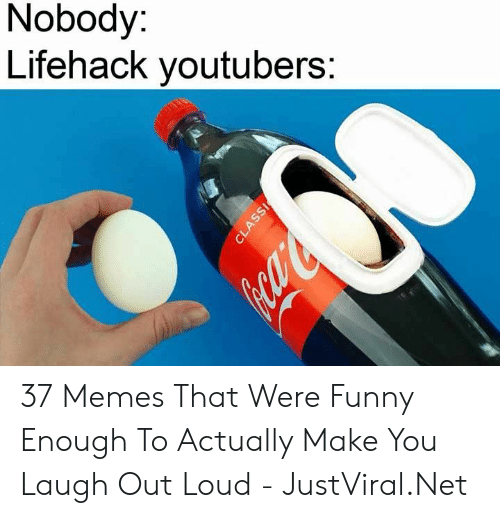 Make You Laugh: Nobody:  Lifehack youtubers:  CLASSI 37 Memes That Were Funny Enough To Actually Make You Laugh Out Loud - JustViral.Net