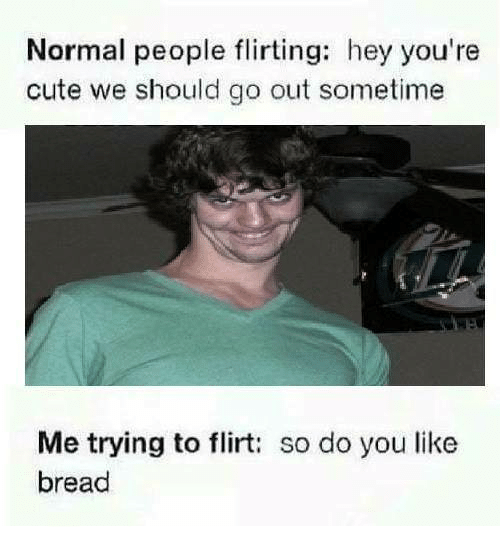 Normal People Flirting Hey You're Cute We Should Go Out Sometime Me