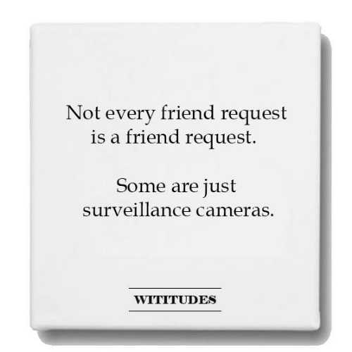 Dank, 🤖, and Friend: Not every friend request  is a friend request.  Some are just  surveillance cameras.  WITITUDES