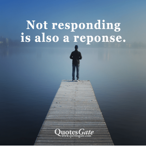 Quotes Gate Captivating Not Responding Is Also A Reponse Quotes Gate Wwwquotesgatecom