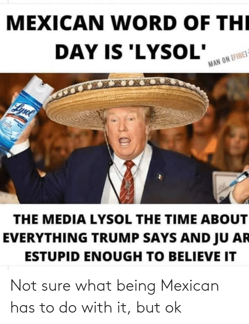 Mexican: Not sure what being Mexican has to do with it, but ok