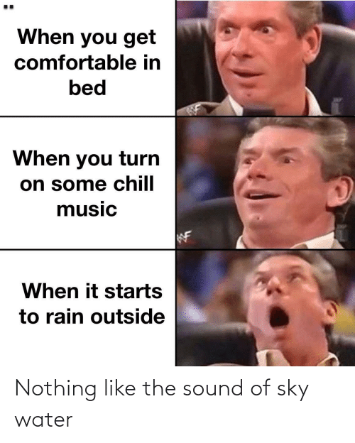 sky: Nothing like the sound of sky water