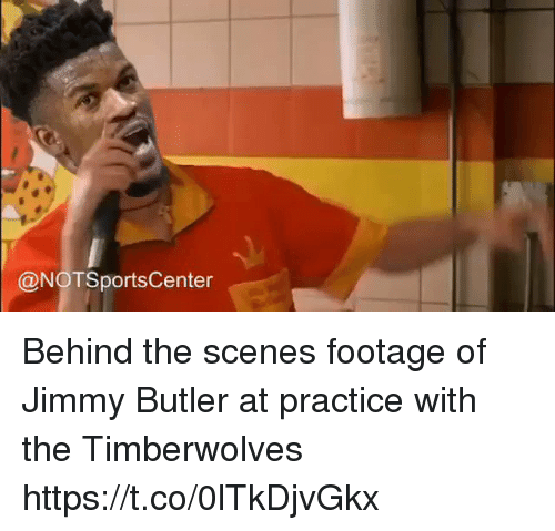 Jimmy Butler: @NOTSportsCenter Behind the scenes footage of Jimmy Butler at practice with the Timberwolves https://t.co/0lTkDjvGkx