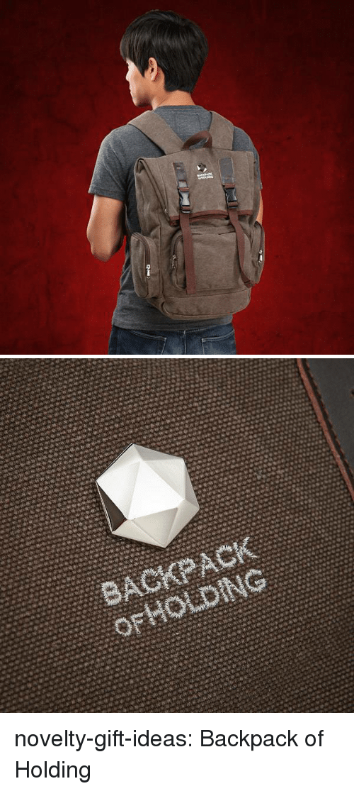 Tumblr, Blog, and Com: novelty-gift-ideas:  Backpack of Holding