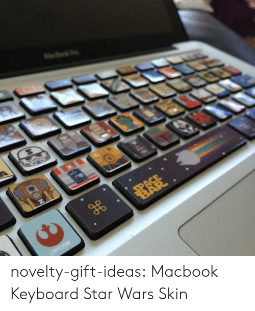 Star Wars, Tumblr, and Blog: novelty-gift-ideas:  Macbook Keyboard Star Wars Skin