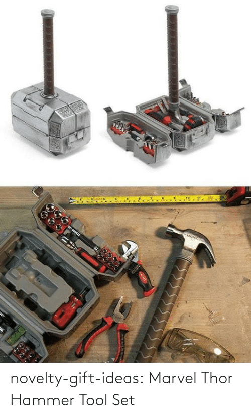 Tumblr, Blog, and Marvel: novelty-gift-ideas:  Marvel Thor Hammer Tool Set