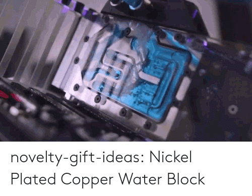 plated: novelty-gift-ideas:  Nickel Plated Copper Water Block