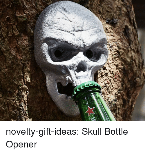Tumblr, Blog, and Skull: novelty-gift-ideas:  Skull Bottle Opener