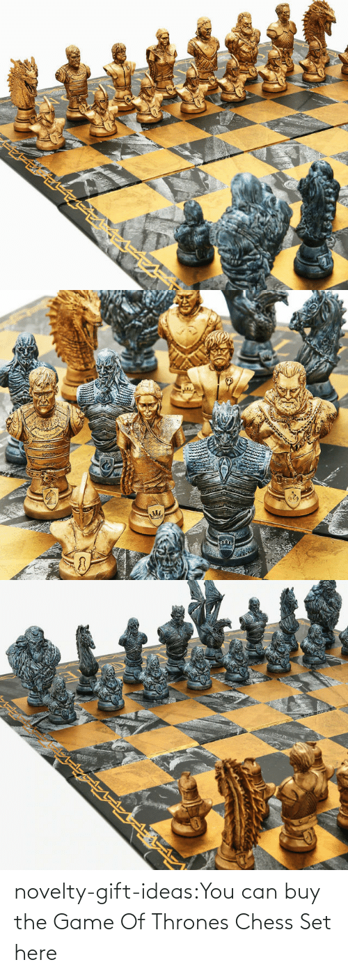 Buy: novelty-gift-ideas:You can buy the   Game Of Thrones Chess Set here