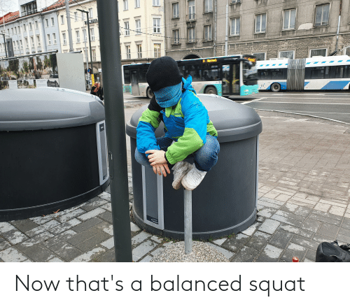 Squat: Now that's a balanced squat