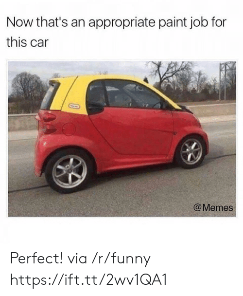 Car Memes: Now that's an appropriate paint job for  this car  @Memes Perfect! via /r/funny https://ift.tt/2wv1QA1