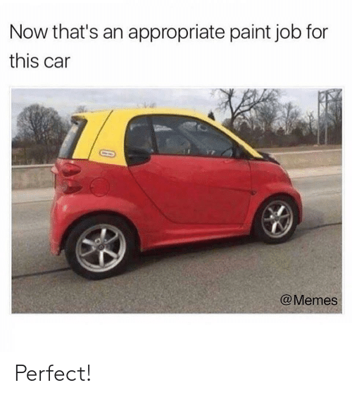 Car Memes: Now that's an appropriate paint job for  this car  @Memes Perfect!