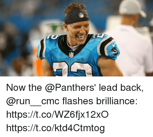 Memes, Run, and Panthers: Now the @Panthers' lead back, @run__cmc flashes brilliance: https://t.co/WZ6fjx12xO https://t.co/ktd4Ctmtog