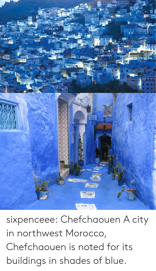 Target, Tumblr, and Blog: NSION  CORDOBA  al sixpenceee:   Chefchaouen   A city in northwest Morocco, Chefchaouen is noted for its buildings in shades of blue.
