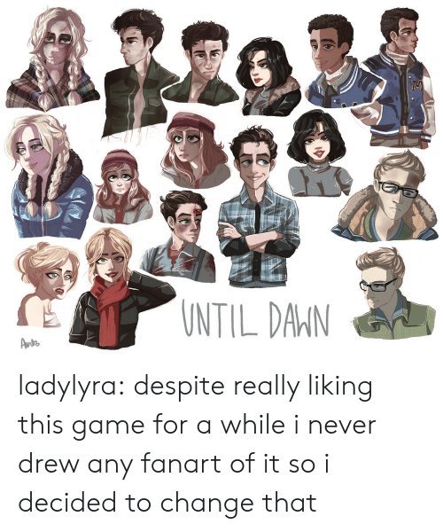 Tumblr, Blog, and Game: NTIL DAIN ladylyra:  despite really liking this game for a while i never drew any fanart of it so i decided to change that