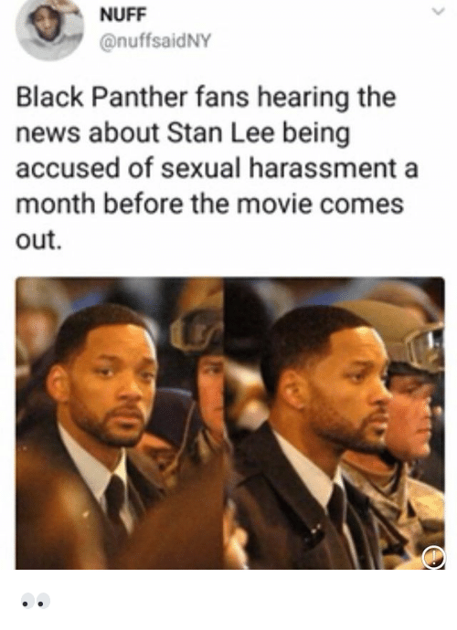 NUFF Black Panther Fans Hearing the News About Stan Lee ...