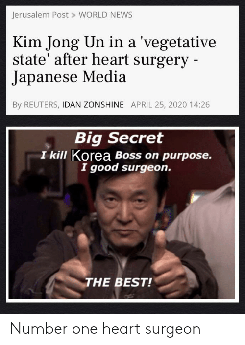 Number: Number one heart surgeon