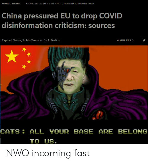 Conspiracy: NWO incoming fast