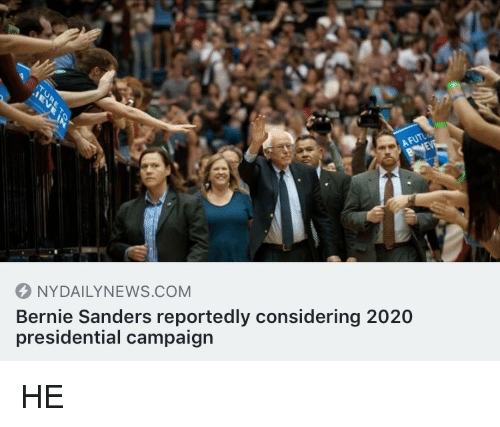 Nydailynews: NYDAILYNEWS.COM  Bernie Sanders reportedly considering 2020  presidential campaign <p>HE</p>