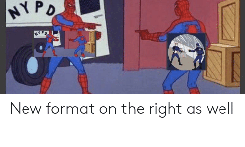 Format, New, and Right: NYP New format on the right as well